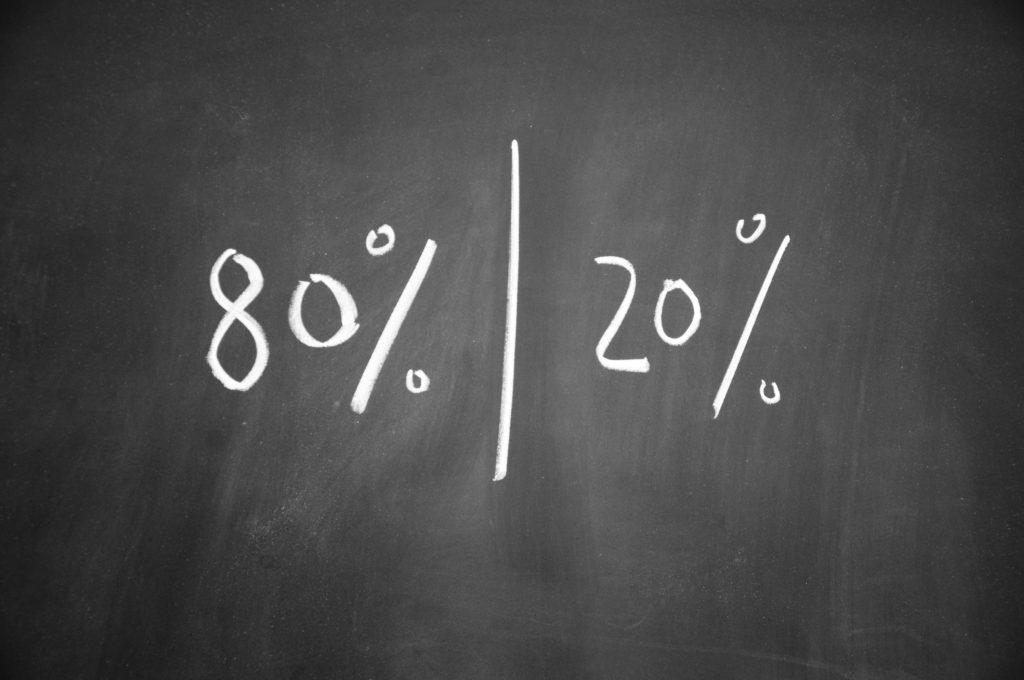 Het Pareto principe blijkt niet te kloppen: 60/20 is een realistische verdeling